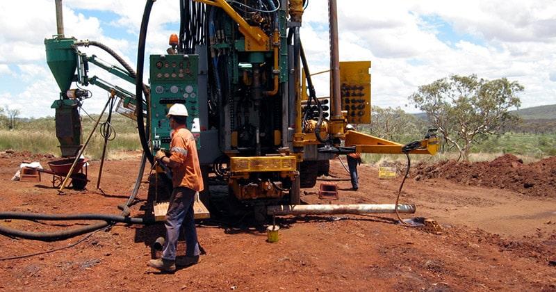 BHP drill rig